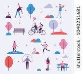 vector illustration in flat... | Shutterstock .eps vector #1040251681