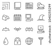 flat vector icon set   rss... | Shutterstock .eps vector #1040255299
