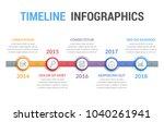 timeline infographics template  ... | Shutterstock .eps vector #1040261941