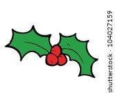 cartoon holly | Shutterstock .eps vector #104027159
