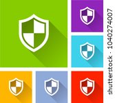 illustration of shield icons... | Shutterstock .eps vector #1040274007