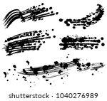 brush stroke illustrations.... | Shutterstock .eps vector #1040276989