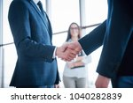 two confident businessman... | Shutterstock . vector #1040282839