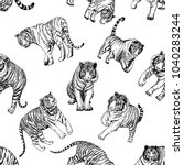 seamless pattern of hand drawn...   Shutterstock .eps vector #1040283244