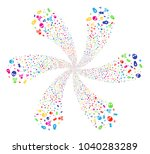 multicolored death cyclonic... | Shutterstock .eps vector #1040283289