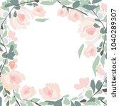 wild flowers   watercolor... | Shutterstock .eps vector #1040289307
