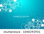 molecular concept of neurons... | Shutterstock .eps vector #1040292931