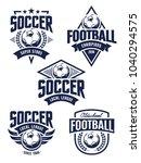 vector football emblems set.... | Shutterstock .eps vector #1040294575