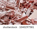 removal of debris. construction ... | Shutterstock . vector #1040297581