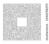 complex maze puzzle game 3 ... | Shutterstock .eps vector #1040298295