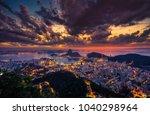 rio de janeiro skyline panorama ...   Shutterstock . vector #1040298964
