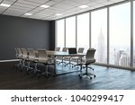 clean conference room interior... | Shutterstock . vector #1040299417