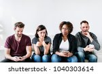 people using mobile phone | Shutterstock . vector #1040303614