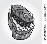 hand drawn vector illustration... | Shutterstock .eps vector #1040304244