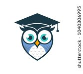 owl logo vector template stock... | Shutterstock .eps vector #1040306995