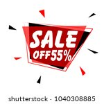 sale off 55   sign with red...   Shutterstock .eps vector #1040308885