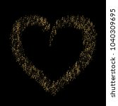 heart shaped confetti of vector ... | Shutterstock .eps vector #1040309695