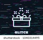 glitch effect. gift box line... | Shutterstock .eps vector #1040314495