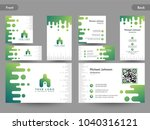 business card set with front... | Shutterstock .eps vector #1040316121
