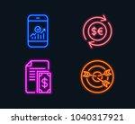 neon lights. set of smartphone... | Shutterstock .eps vector #1040317921
