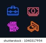 neon lights. set of cash money  ...   Shutterstock .eps vector #1040317954