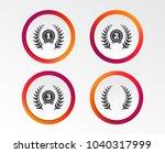 laurel wreath award icons.... | Shutterstock .eps vector #1040317999