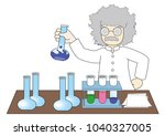 professor's chemistry research... | Shutterstock .eps vector #1040327005
