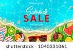 summer sale promo web banner... | Shutterstock .eps vector #1040331061