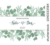 floral greenery card template... | Shutterstock .eps vector #1040333584