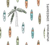 vector illustration. surf board ... | Shutterstock .eps vector #1040336491