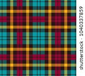 seamless tartan vector pattern | Shutterstock .eps vector #1040337859