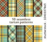set of seamless tartan pattern | Shutterstock .eps vector #1040337865