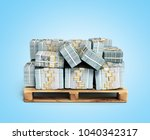 stack of dollar money bills on... | Shutterstock . vector #1040342317