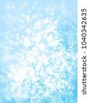 vector blue  bokeh background. | Shutterstock .eps vector #1040342635