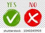 round green symbolic tick ok... | Shutterstock .eps vector #1040345905