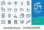 bathroom and restroom icons ...   Shutterstock .eps vector #1040346985