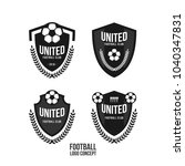 football club logo set vector... | Shutterstock .eps vector #1040347831