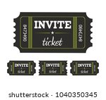coupon ticket card | Shutterstock .eps vector #1040350345