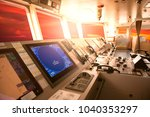 ship's control bridge with... | Shutterstock . vector #1040353297
