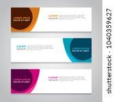 design banner. abstract... | Shutterstock .eps vector #1040359627