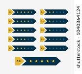 creative star rating symbol... | Shutterstock .eps vector #1040364124