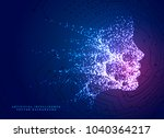 digital particle face... | Shutterstock .eps vector #1040364217