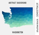 washington map in geometric... | Shutterstock .eps vector #1040370619