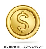 gold coin sign isolated on a... | Shutterstock . vector #1040370829