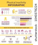 the sitting disease infographic.... | Shutterstock .eps vector #1040378224