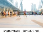 people walking in motion blur... | Shutterstock . vector #1040378701
