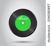 vinyl disk. music disk vector...   Shutterstock .eps vector #1040383897
