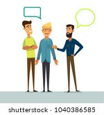 conversation of friends.... | Shutterstock .eps vector #1040386585