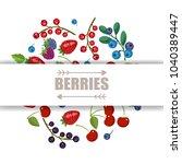 fresh fruits and berries.... | Shutterstock .eps vector #1040389447