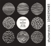hand drawn textures   brush... | Shutterstock .eps vector #1040390485